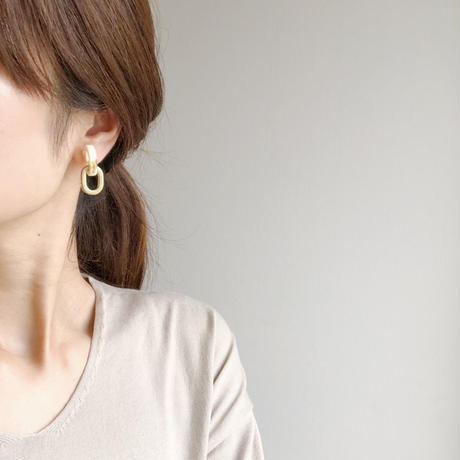 marble gold ring earring
