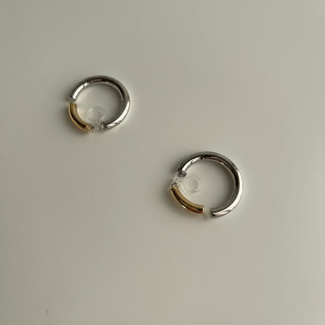 by color circle earrings