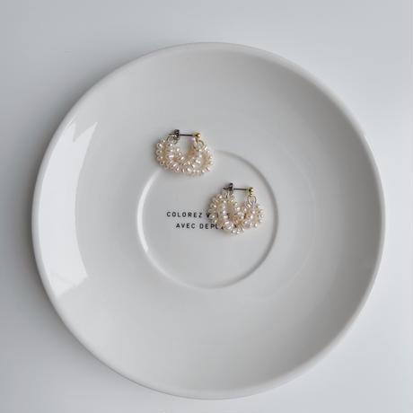 range fresh pearl earrings(small)