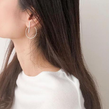 stick +back hoop earring