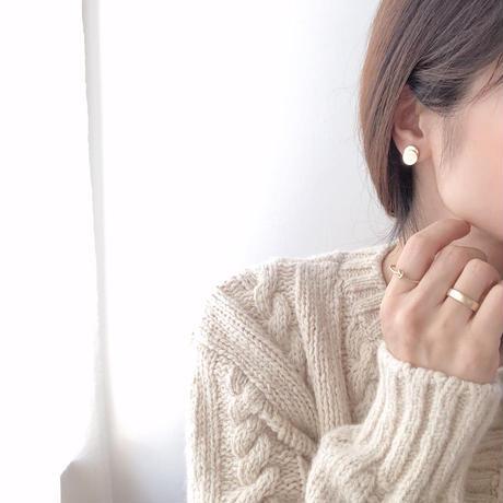circle layered mini earring