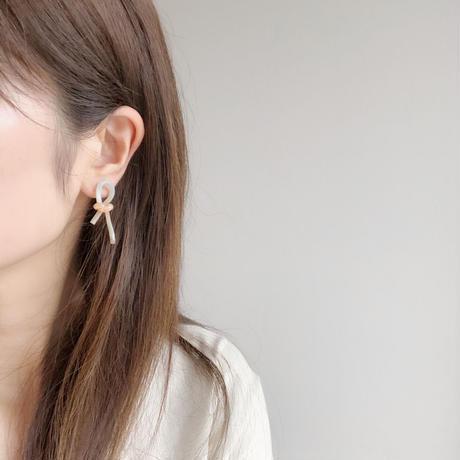 pastel knit earring