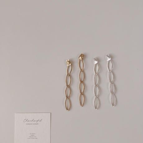 matte long chain earring