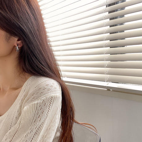 cross hoop earrings