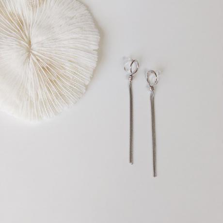 hoop chain earring