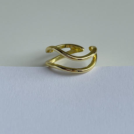 w wave ring(silver925)