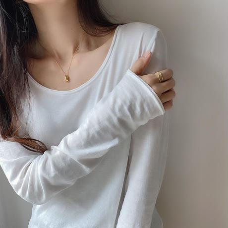 drop necklace(silver925)