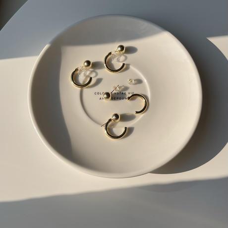 ball circle hoop earrings