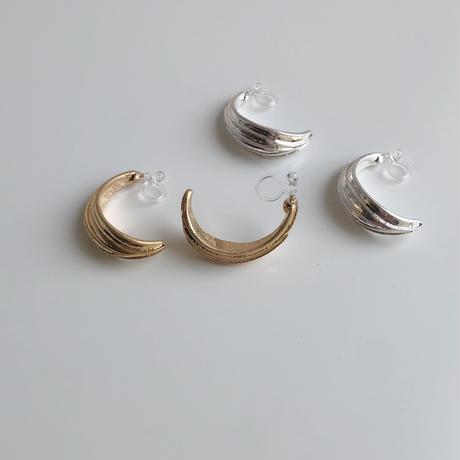 half curve earrings
