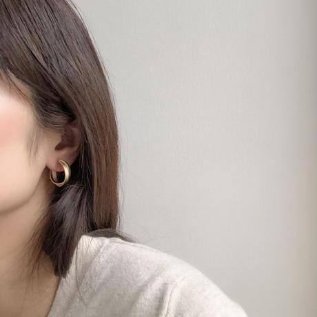 metal cross hoop earring