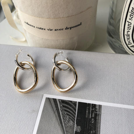 circle metal swing earrings