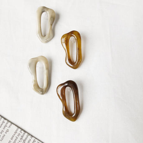 deformed acrylic frame earring