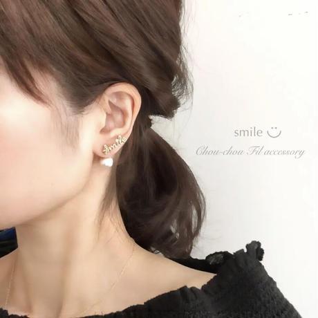 letterd&back pearl earring