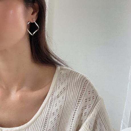 wave ring earrings