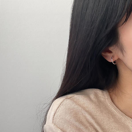 asymmetry curve earrings(silver925)