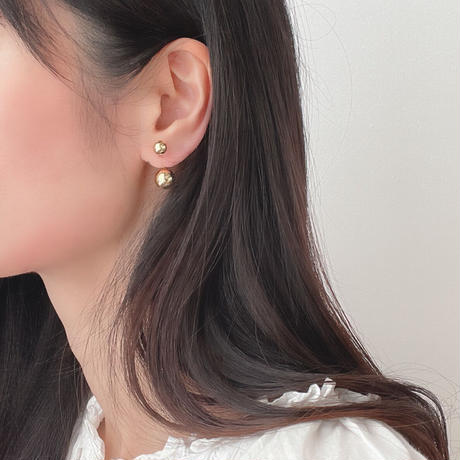 two ball earrings(silver925)