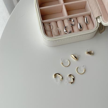 earrings 3set(metal&hoop)