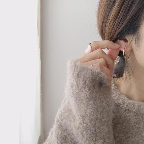 cross hoop earring(シルバー)