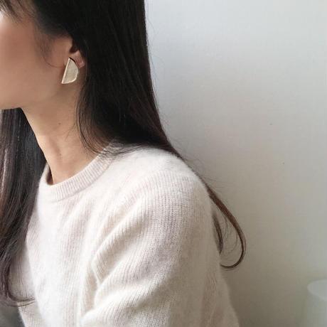 metal half moon earrings