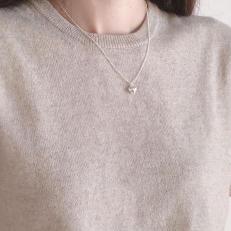 petit heart necklace(silver925)
