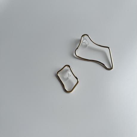 asymmetry hoop earrings