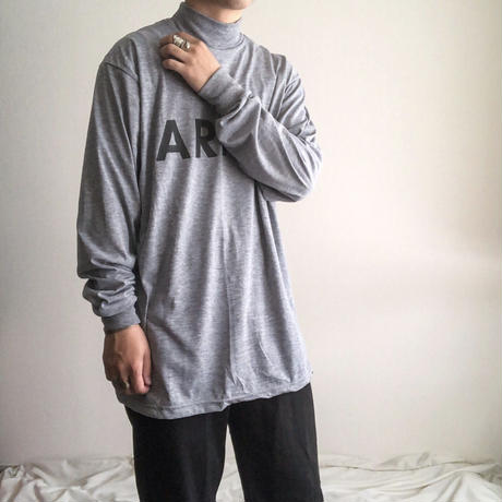 NOS 2000's US ARMY reflector print mockneck L/S tee
