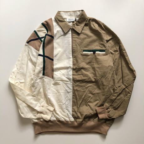 1990's~ switching design halfzip pullover blouson