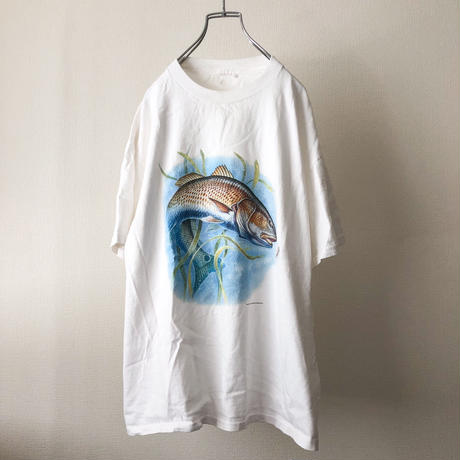 1990's~ fish print S/S cotton tee