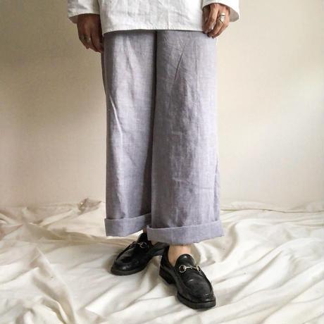 2000's~ linen flare wide pants