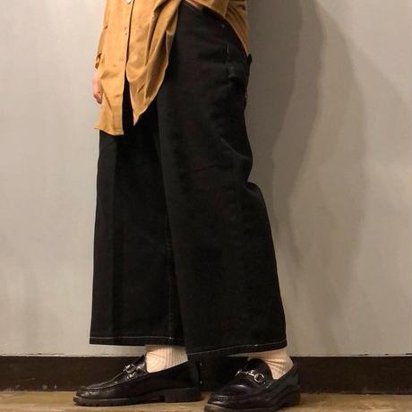 1990's~ ブラックデニム クロップド バギーパンツ / 古着 ビンテージ