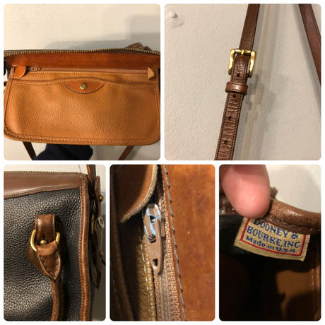 1980's DOONEY&BOURKE two tone color leather shoulder bag made in USA