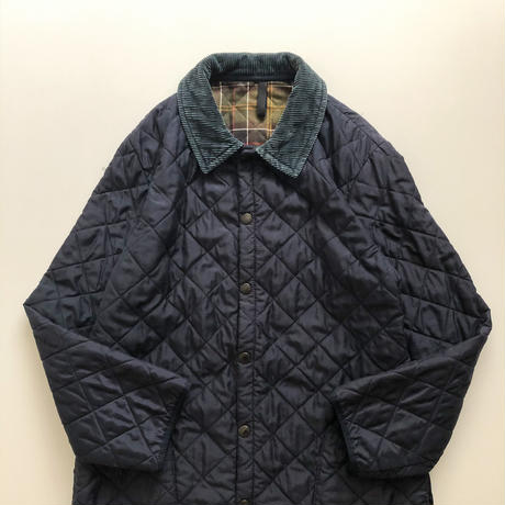 Barbour navy corduroy collor quilting jacket