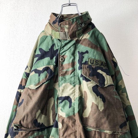 "NOS 1980's US ARMY M-65 3rd woodland camo pattern field jacket ""S-XS"