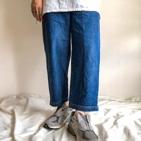 1990's~ cropped easy denim pants