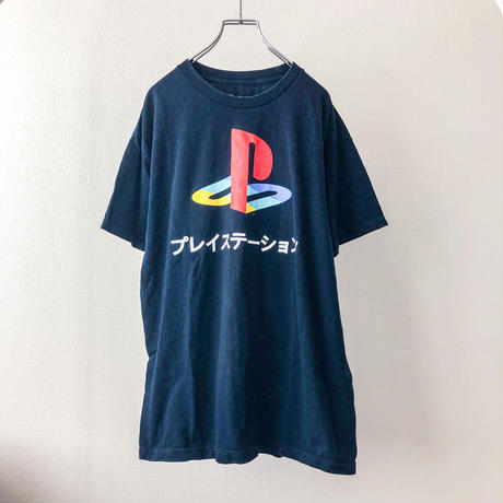 """PlayStation"" navy print S/S tee"
