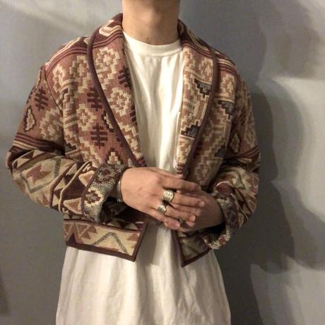 1990's~ ショールカラー ネイティブ柄 ジャケット / 古着 ビンテージ