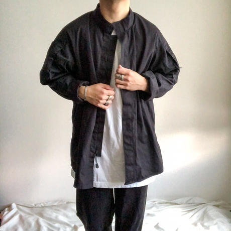2000's~ black stand collor military design jacket