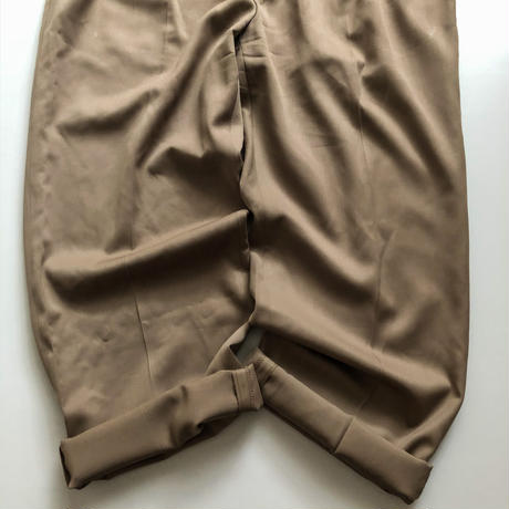 1980's~1990's bigsize beige slacks made in Italy