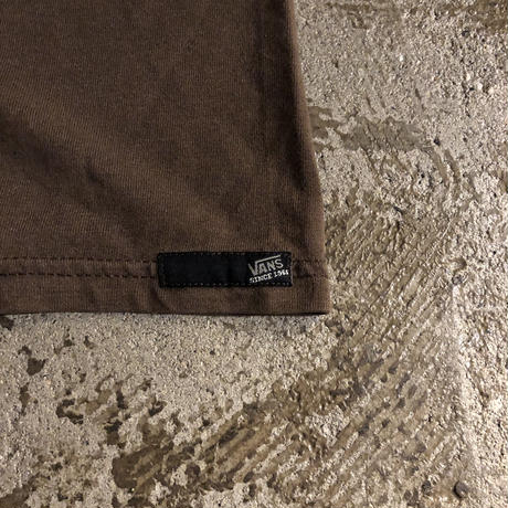 """VANS"" chocolate brown  logo print S/S tee"