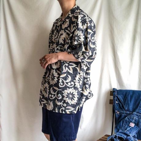 "1990's~  ""OP"" bigsize open collor Hawaiian S/S shirt"