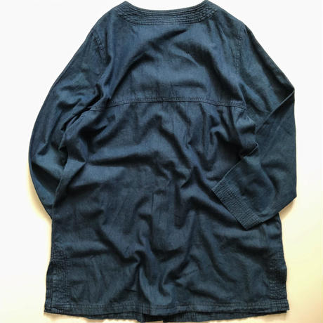 2000's~ bigsize no collar denim coat