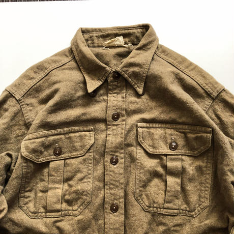 Vintage 1950's~ US ARMY wool L/S shiit