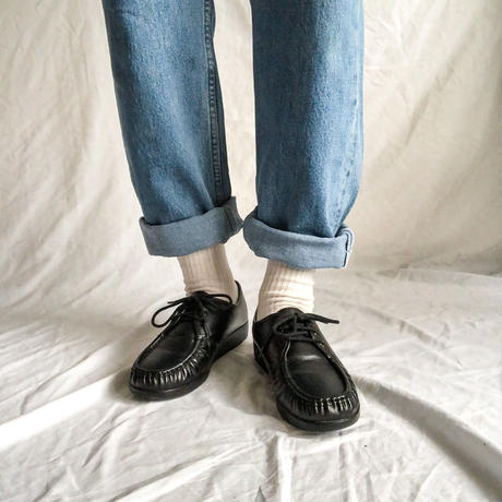 SAS black 3hole michael type leather shoes made in USA