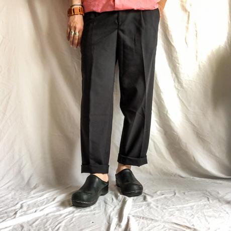 1990's~ black tapered slacks made in USA
