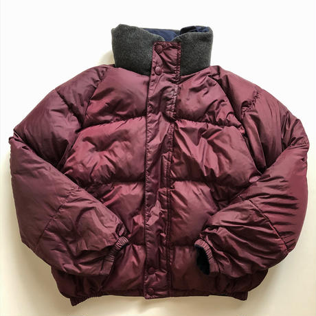 1990's~ nautica two tone color reversible duck down jacket