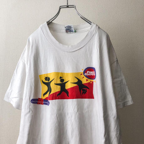 "1990's ""Costco"" print cotton S/S tee made in USA"