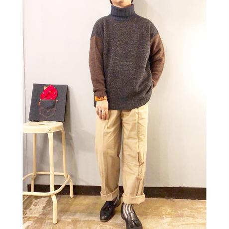 ESPRIT エスプリット クレイジーパターン タートルネック セーター / 古着 ビンテージ