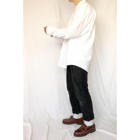 1980's~ I.magnin ホワイト バンドカラー シャツ / 古着 ビンテージ