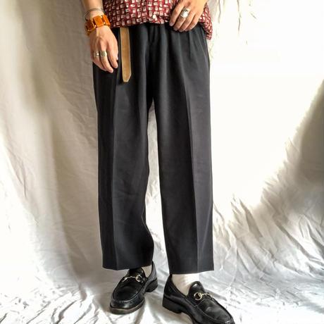 1990's~ black tuck cropped slacks