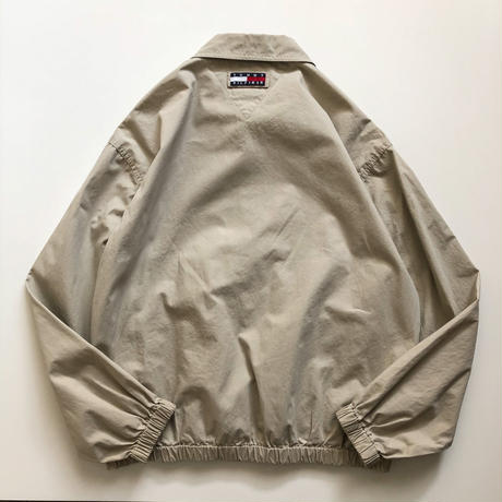 "1990's~ ""TOMMY HILFIGER"" cotton drizzler jacket"